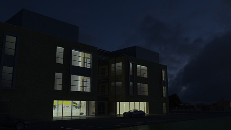 Store front render with added visual narrative