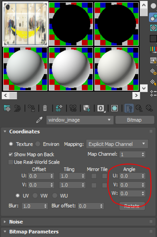 Settings inside Vray for 3ds Max - changing UV