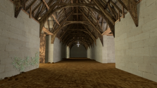mentalray render of a barn