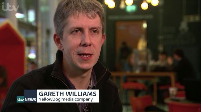 As seen on TV: YellowDog founder Gareth appears on ITV News