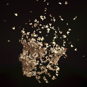 A06 Butterfly head render from Maya with black background